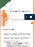 Plan lingüístico de centro