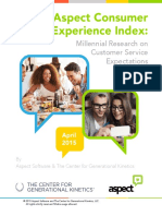 The Aspect Consumer Experience Index c 2015 the Center for Generational Kinetics