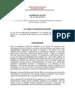 Acuerdo 001 del 22 de Abril de 2016