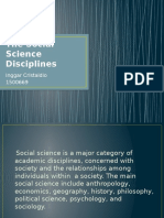 The Sosial Sciene Disciplines