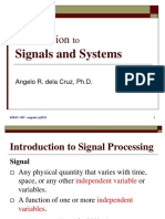 Lecture 1 - Introduction to Signals and Systems
