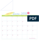 June 2010 Printable Calendar - TomKat Studio