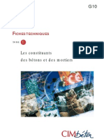 G10 Constituants Des Btons Et Des Mortiers Fiches Techniques Tome 1