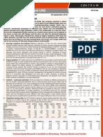 Microsoft Word - Petronet LNG - Q1FY17 Result Update - Centrum 06092016_edited