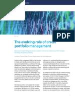 The Evolving Role of Credit Portfolio Management