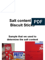 Salt Content of Biscuit Sticks