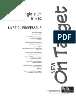 Livre Du Professeur New On Target 1re Pdf Journaux Et