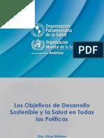 Conferencia Magistral ODS y Salud en Todas Las Políticas OPS Dra. G Watson