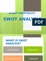 SWOT Analysis for Hospitality - Copy