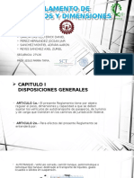 Reglamento de Pesos y Dimensiones
