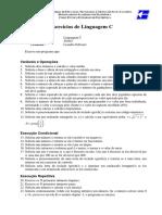 Linguagem C - Lista de Exercícios 01