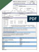 Formato de Requerimiento de Personal 2016