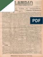 Claridad 57 Bogota 1928