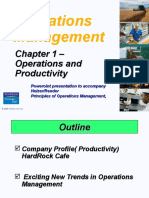 Trends in Operations Management and Productivity Concept