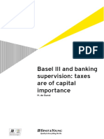 Basel III and Banking Supervision Taxes Are of Capital Importance