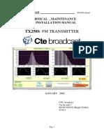 TX250S Manual