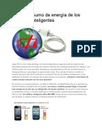 El Alto Consumo de Energía de Los Teléfonos Inteligentes
