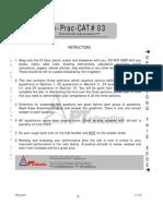 Online Prac CAT # 03 - Test