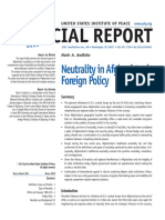 SR360 Neutrality in Afghanistan's Foreign Policy