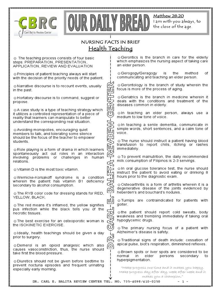 71990145-Health-Teaching pdf | Nursing | Clinical Medicine