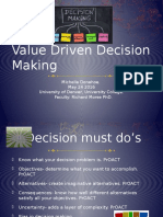 Presentation Value Driven Decision making
