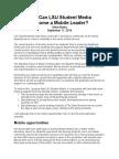 LSU Student Media Mobile Leader Report