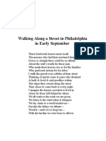 Walking Along a Street in Philadelphia in Early September