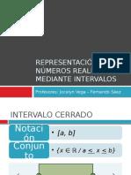 Representación de Números Reales Mediante Intervalos