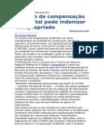 STJ - Recurso de Compensação Pode Indenizar Desapropriação