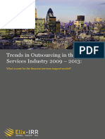 ElixIRR Trends in Outsourcing in the Financial Services Industry 2009 - 2013