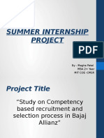 Summer Internship Project (Ppt)