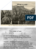 What is War Poetry - Intro Presentation