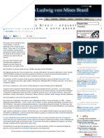 A Olimpíada No Brasil - Enquanto as Elites Ligadas Ao Governo Festejam, o Povo Passa Por Privações -Artigo