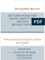 french revolution review ppt