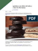 Alfajores Argentinos Con Dulce de Leche y Chocolate
