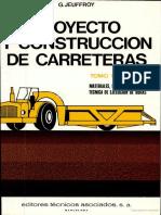 Proyecto y construccion de carreteras