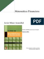 Miner Aranzábal - Curso de Matemática Financiera (Capítulo 7)