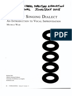 The Scat Singing Dialect
