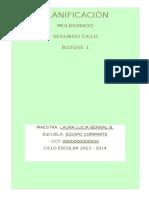 Multigrado 2do Ciclo Bim1 2013-14