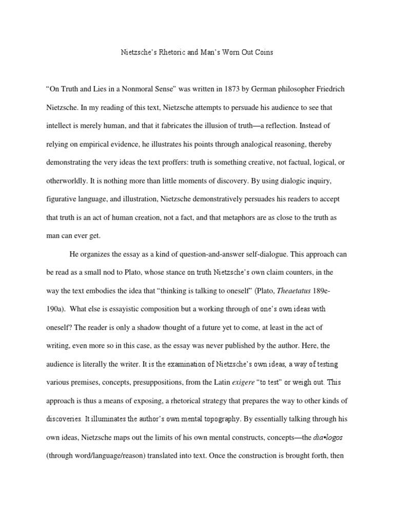 a simple rhetorical analysis of on truth pdf friedrich nietzsche a simple rhetorical analysis of on truth pdf friedrich nietzsche metaphor