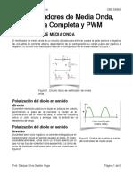 Rectificadores de Onda Completa, Media Onda y Pwm