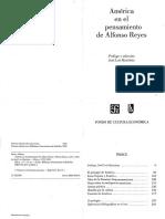 Alfonso Reyes América en el pensamiento de Alfonso Reyes