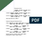 Cálculo de Costos Para Producción 1