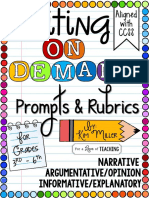 Writing on Demand Prompts Rubric s Grades 36