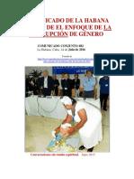 Enfoque Corrupcion de Genero - Conversaciones de Paz - La Habana- 2016