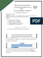 PASOS PARA Utilizar El Procesador de Texto Para Elaborar Un Documento Eficiente Por Medio de Microsoft Word.
