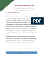 El Fenómeno de Blanqueo de Dinero en El Perú