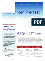 Mid Winter, Pre Test Function