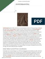 Ashurbanipal - Ancient History Encyclopedia