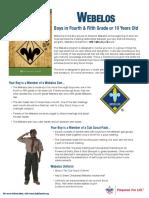 Webelos Fact Sheet